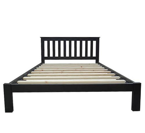 Classic black bed frame