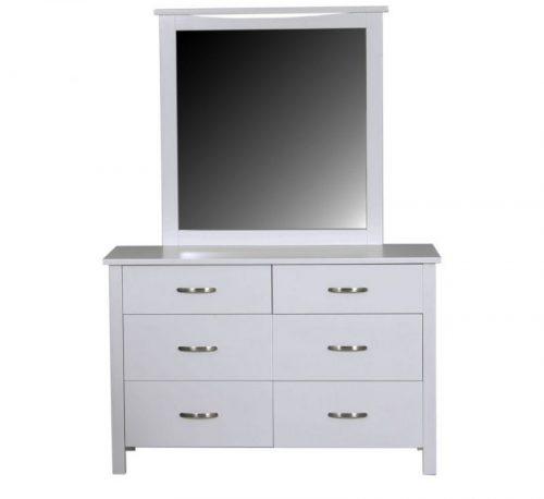 evergreen dresser with mirror white