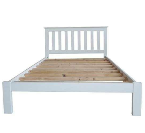 Classic white bed frame